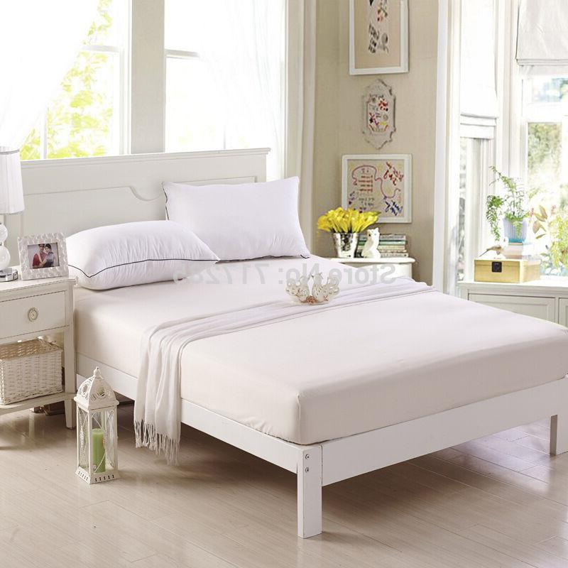 new soft fabric zippered mattress cover bed