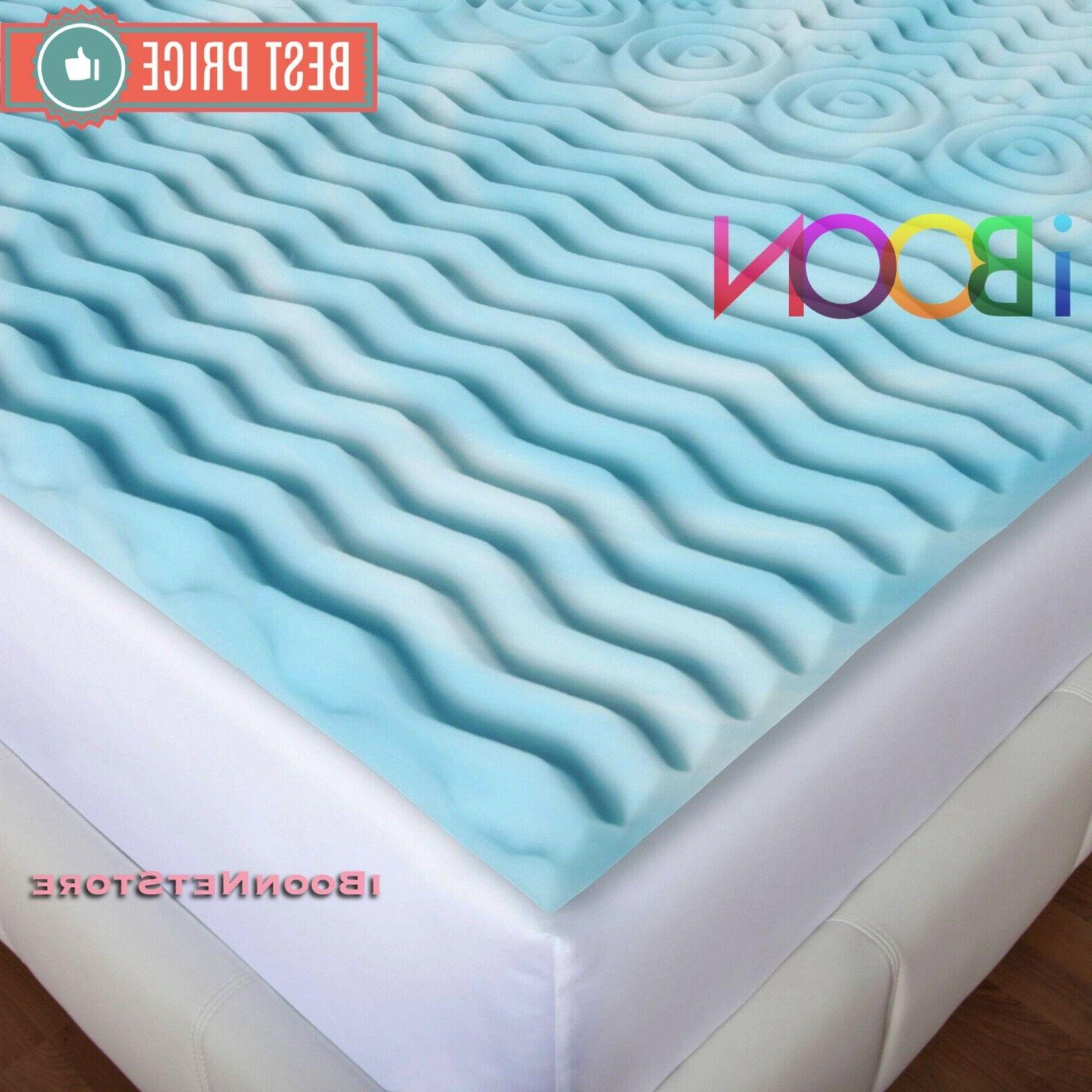 Orthopedic 3 INCH Memory Foam Topper Queen Size Gel Pad Bed Cover