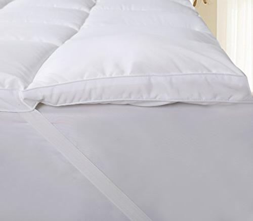 Utopia Bedding Polyester Topper – Mattress Pad Cover Stretches 15 Mattress Protector with Fiber Filling