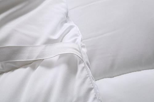 Utopia Bedding Topper Cover To 15 Inches Deep Mattress Protector with Siliconized Fiber Filling