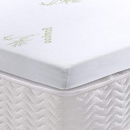 LANGRIA Foam CertiPUR-US Certified with Removable Zippered Non-Slip Bottom