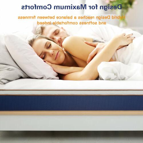 BedStory Modern 10 inch Spring Hybrid Mattress Latex Foam be