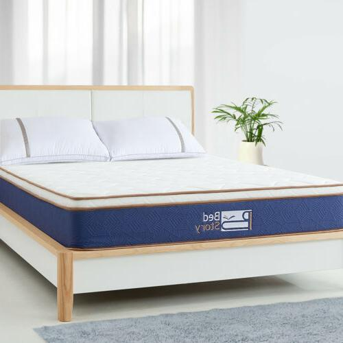 BedStory Latex Innerspring Foam Mattress 10inch Queen-Size M