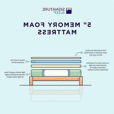 Signature Sleep Tight 5 Inch Youth Foam Mattress, TWIN