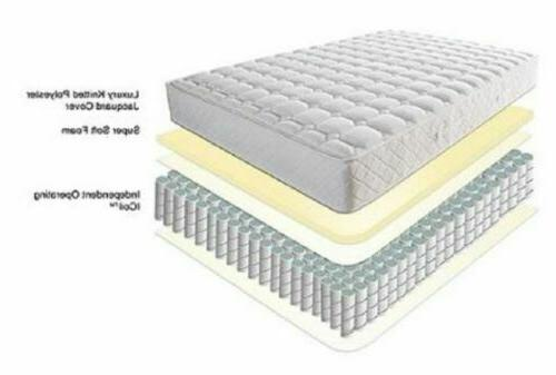 Twin Size Mattress Inch Luxury Bedroom Coil Relief