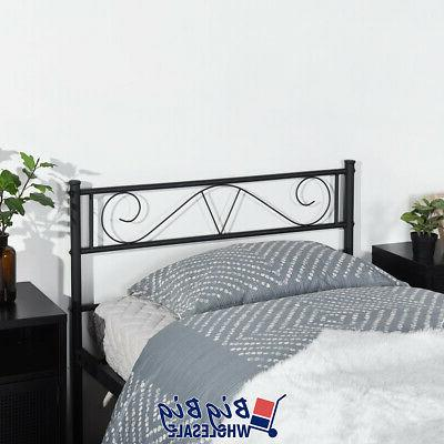 Twin Metal Frame Black with Headboard Footboard