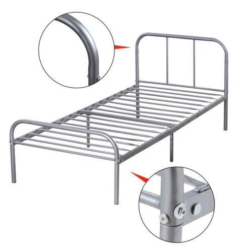 Twin Size Metal Bed Steel Headboard Bedroom