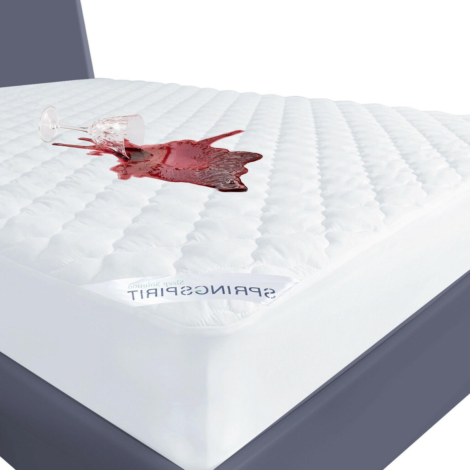 waterproof quilted mattress cover pad protector all