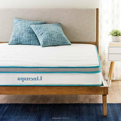 zinus 8 inch spring mattress with quilted