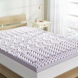 Best Price Mattress Lavender Cooling Topper 3 inch 5-Zone Me