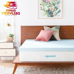 Linenspa 2 inch, 3 inch Gel Infused Memory Foam Mattress Top