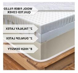 "Made in the USA Talalay and Dunlop 12"" Latex Mattress! Free"