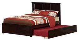 Madison Full Platform Bed with Flat Panel Footboard and Trun