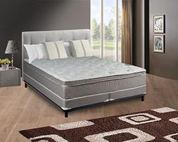 "Continental Sleep Mattress, 10"" Pillowtop Eurotop, Fully Ass"