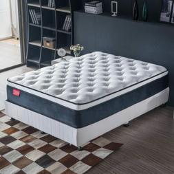 Jacia House Mattress King 11.8 Inches Euro Top Luxury Bed Fo