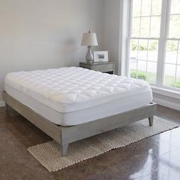 VirtueValue Mattress Pad with Fitted Skirt - Extra Plush Top