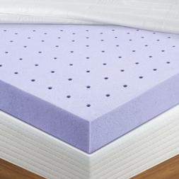 BedStory memory-foam topper mattress 2inch Queen-size Lavend