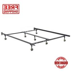 Metal Bed Frame Adjustable Rails Twin Full Queen King Size B