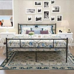 Metal Bed Frame Full Size Bedroom Mattress Foundation with H