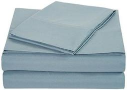 AmazonBasics Microfiber Sheet Set - Twin Extra-Long, Spa Blu