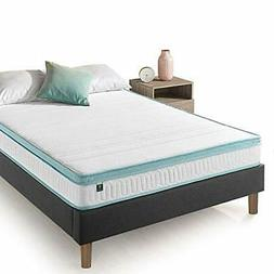 Zinus 8 Inch Mint Green Memory Foam Hybrid Spring Mattress,