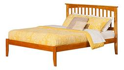 Atlantic Furniture Mission Bed with Open Foot Rail, Queen, C