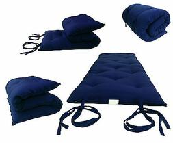 queen size navy japanese floor rolling futon