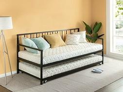 Zinus Eden Twin Daybed and Trundle Set / Premium Steel Slat