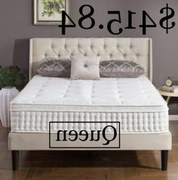 """Zinus Night Therapy Icoil 12"""" Euro box Top Spring Queen Ma"""