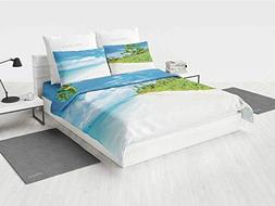 Ocean Kids Bedding Sets Image of Tropical Beach Sea and Sky
