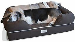 PetFusion Ultimate Memory Foam Dog Bed and Lounge