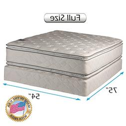 Dream Solutions Pillow Top Mattress and Box Spring Set - Dou