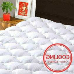 Pillow Top Mattress Cover King Size Bed Topper Pad Soft Hypo