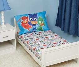 PJ Masks Fitted Sheet and Pillow Case Set, Pink