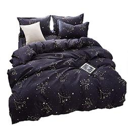 BeddingWish Polyester Modern Black Duvet Cover Sets for Boys