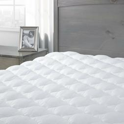 Premium Extra Plush Mattress Pad/Topper with Fitted Skirt