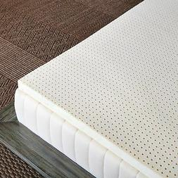 "Pure Green 100% Natural Latex Mattress Topper - Firm - 2"" Qu"