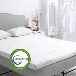 Queen 3-Inch Gel-Infused Memory Foam Mattress Topper With Ce