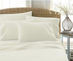Queen Size Sheets Luxurious Soft Egyptian Cotton 4-Piece She