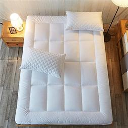 Queen Size Mattress Pad Cover Memory Foam Pillow Top Topper