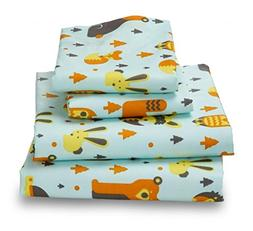 Woodland Creatures QUEEN Sheets for Kids -Breathe 50% Better