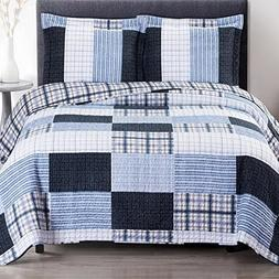 Quilt Coverlet Shams Set Twin/Twin XL Size Soft Bed Spread P