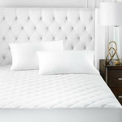 """Quilted Mattress Pad Topper Cover Protector 16"""" Deep Fitted"""