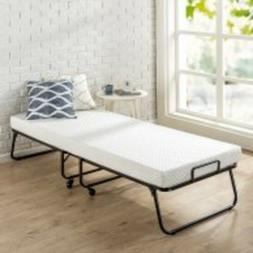 Roll Away Folding Guest Bed with 4 Inch Comfort Foam Mattres