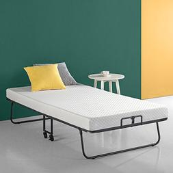 Zinus Roll Away Smart Guest Bed Frame with 4 Inch Comfort Fo