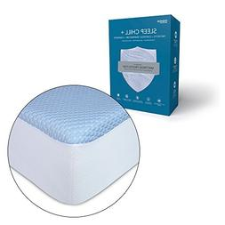 Sleep Chill + Crystal Gel Mattress Protector with Cooling Fi