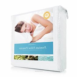 LINENSPA Premium Smooth Fabric Pillow Protector - 100% Water