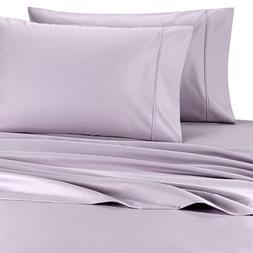 Deluxe' Solid Bed Sheet Set 100 Percent Egyptian Cotton Fi