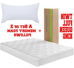 Mattress in a Box Spring Coils Sleep Twin Full Queen King Si