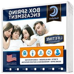 Premium Box Spring Encasement Zippered Cover by CushyBeds -